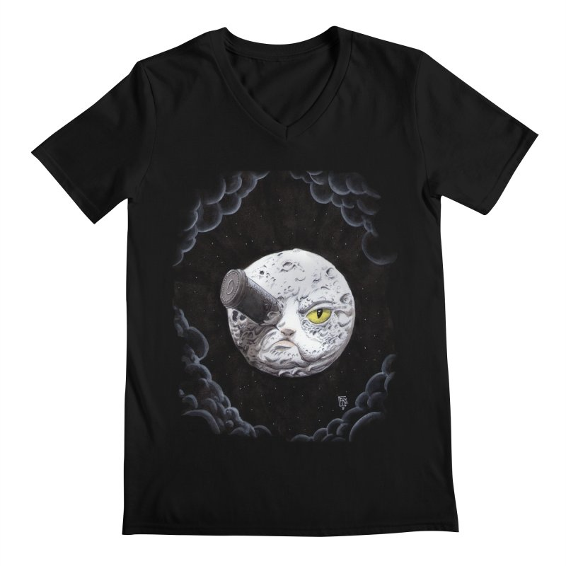 From earth to... no. in Men's Regular V-Neck Black by Franky Nieves Shop