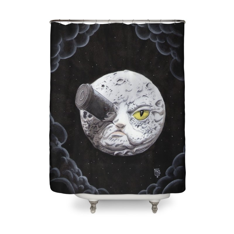 From earth to... no. Home Shower Curtain by Franky Nieves Shop