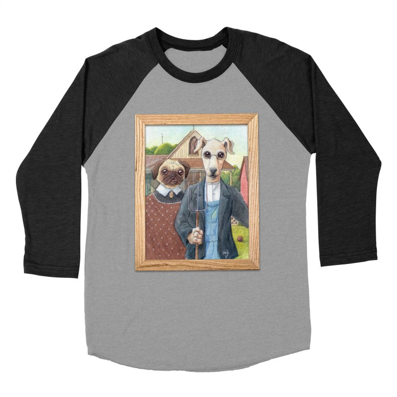 American Wofthic Women's Baseball Triblend Longsleeve T-Shirt by Franky Nieves Shop