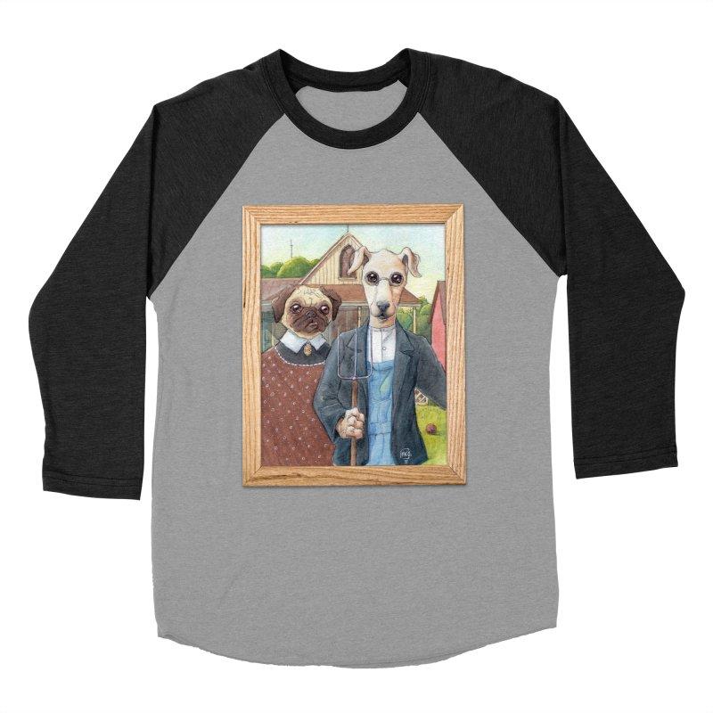 American Wofthic Men's Baseball Triblend Longsleeve T-Shirt by Franky Nieves Shop
