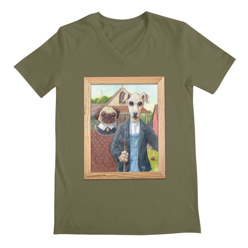 American Wofthic Men's V-Neck by Franky Nieves Shop