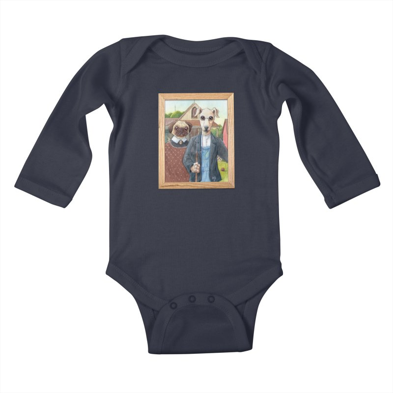 American Wofthic Kids Baby Longsleeve Bodysuit by Franky Nieves Shop