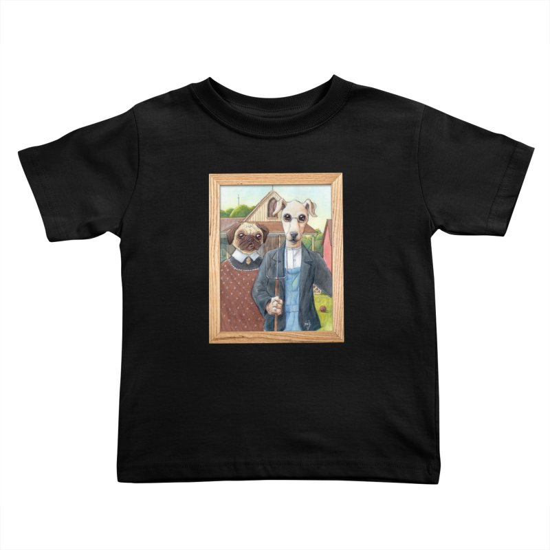 American Wofthic Kids Toddler T-Shirt by Franky Nieves Shop