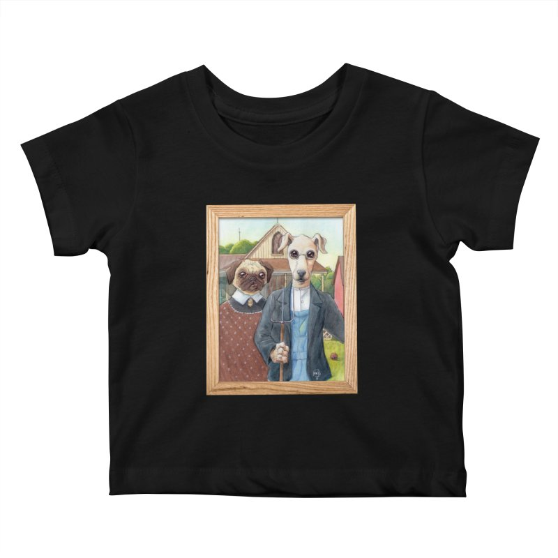 American Wofthic Kids Baby T-Shirt by Franky Nieves Shop