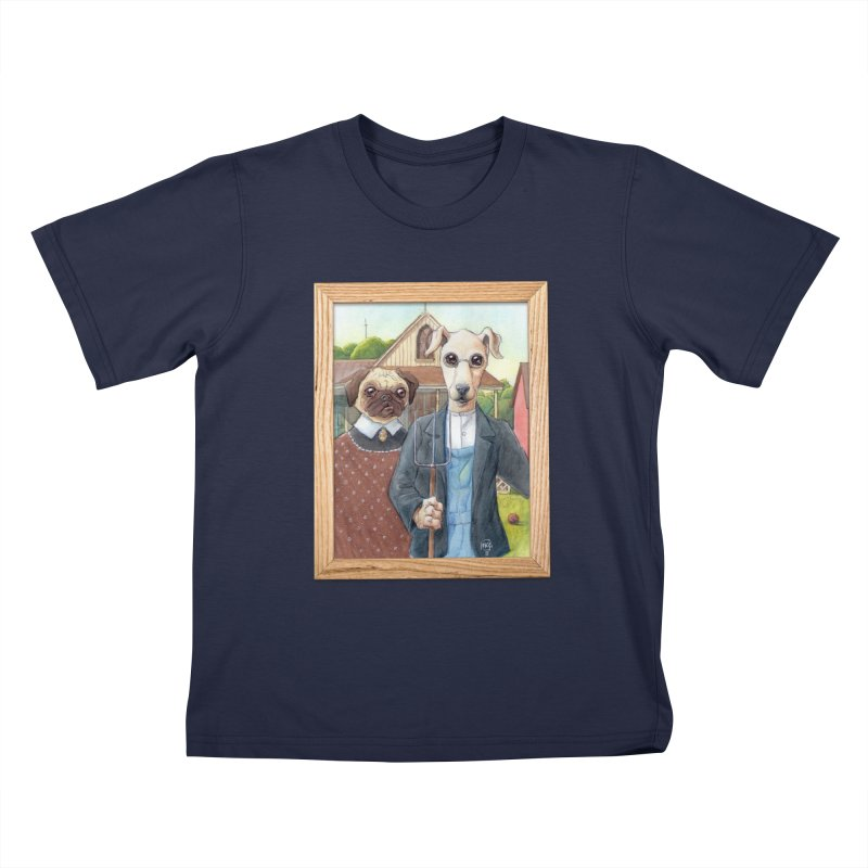 American Wofthic Kids T-Shirt by Franky Nieves Shop