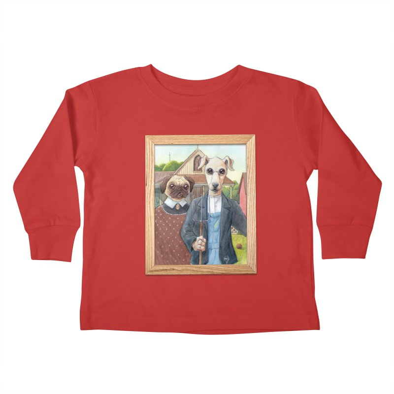 American Wofthic Kids Toddler Longsleeve T-Shirt by Franky Nieves Shop