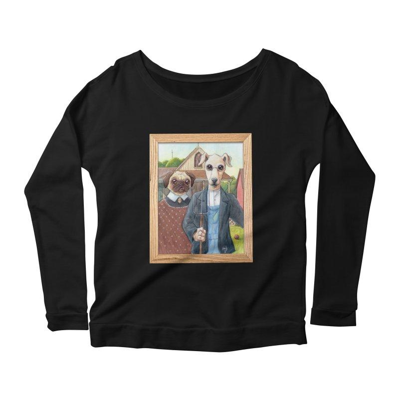 American Wofthic Women's Scoop Neck Longsleeve T-Shirt by Franky Nieves Shop