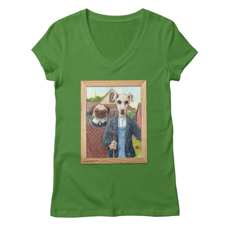 American Wofthic Women's V-Neck by Franky Nieves Shop