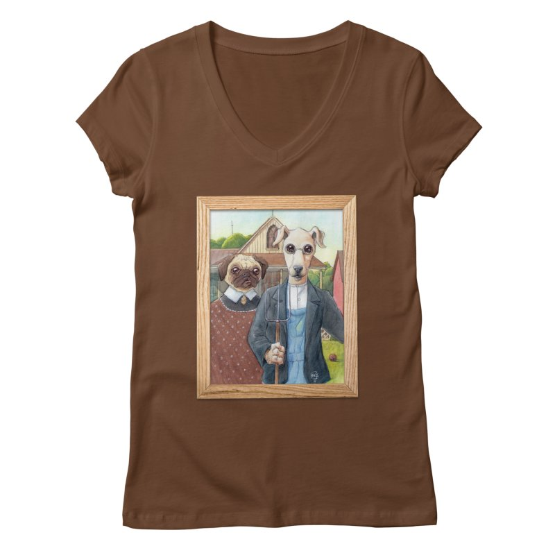 American Wofthic Women's Regular V-Neck by Franky Nieves Shop