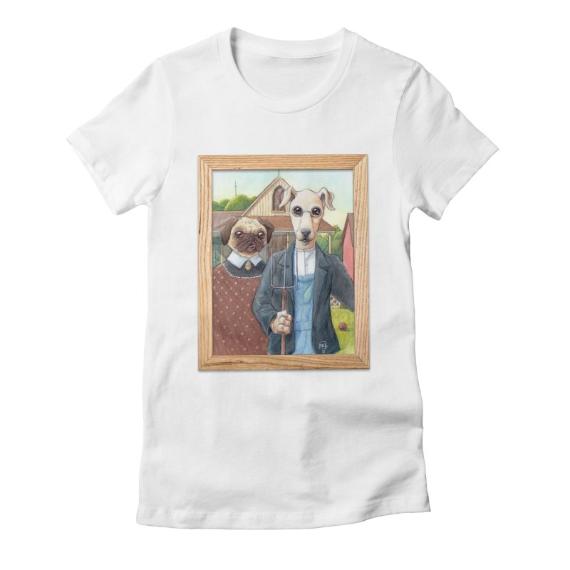 American Wofthic Women's Fitted T-Shirt by Franky Nieves Shop