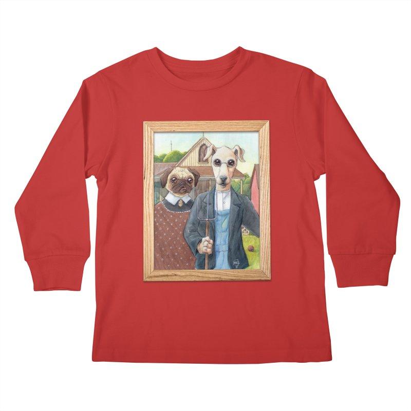 American Wofthic Kids Longsleeve T-Shirt by Franky Nieves Shop