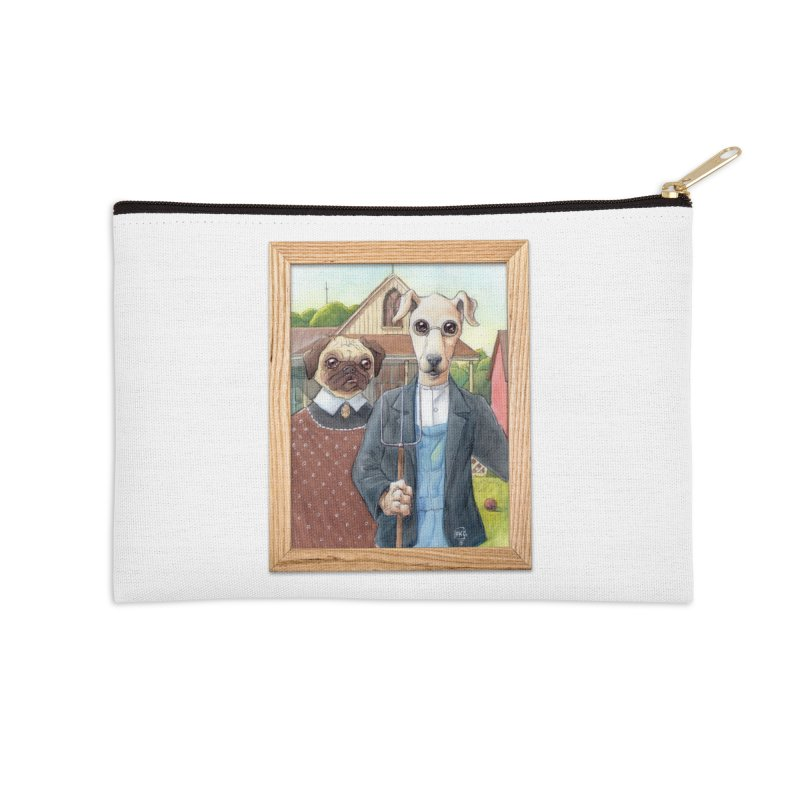 American Wofthic Accessories Zip Pouch by Franky Nieves Shop