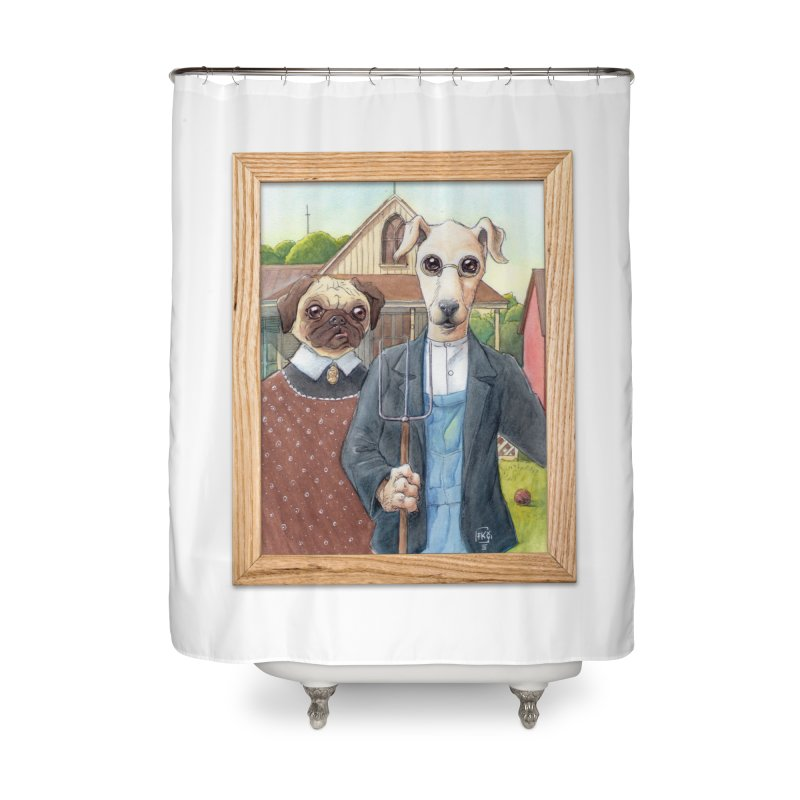 American Wofthic Home Shower Curtain by Franky Nieves Shop