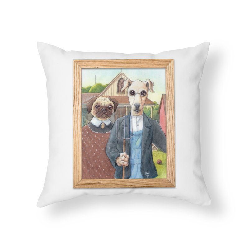American Wofthic Home Throw Pillow by Franky Nieves Shop