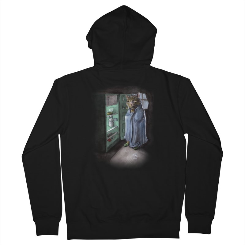 Midnight snack (color edition) Men's French Terry Zip-Up Hoody by Franky Nieves Shop