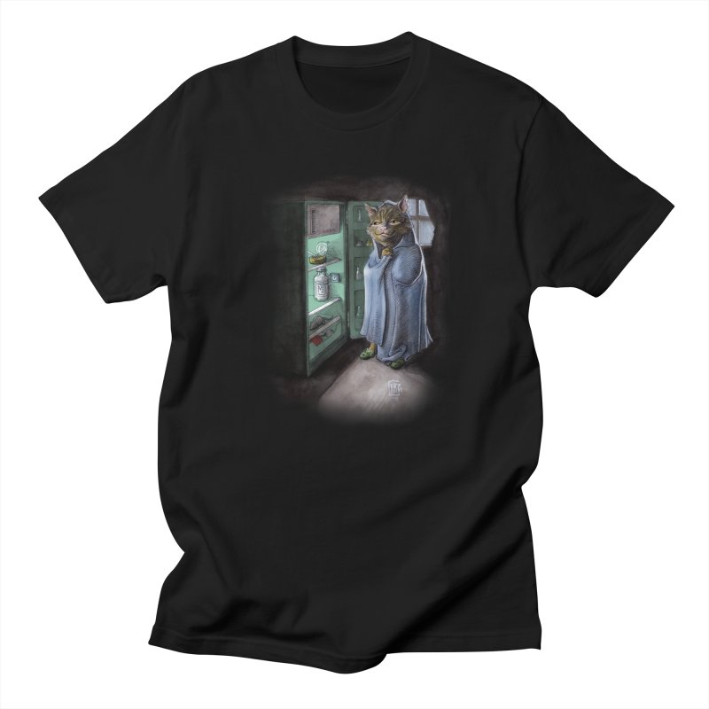 Midnight snack (color edition) in Men's Regular T-Shirt Black by Franky Nieves Shop