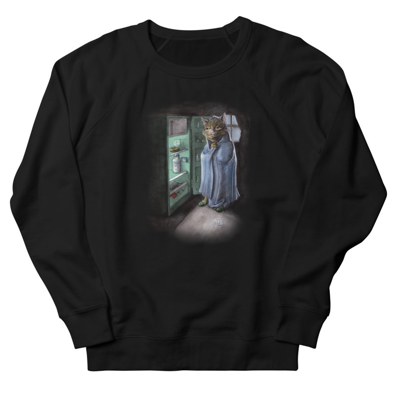Midnight snack (color edition) Men's French Terry Sweatshirt by Franky Nieves Shop