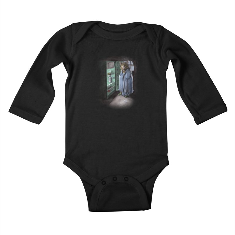 Midnight snack (color edition) Kids Baby Longsleeve Bodysuit by Franky Nieves Shop