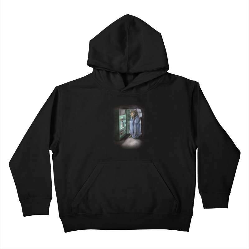 Midnight snack (color edition) Kids Pullover Hoody by Franky Nieves Shop