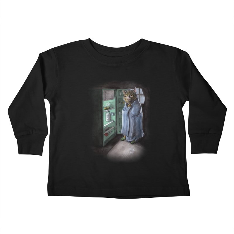 Midnight snack (color edition) Kids Toddler Longsleeve T-Shirt by Franky Nieves Shop