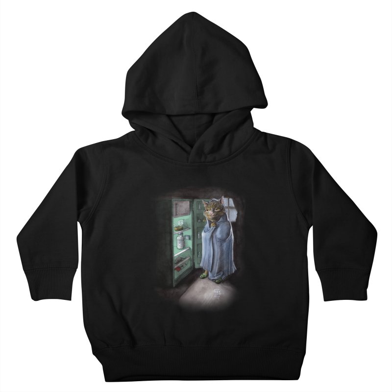 Midnight snack (color edition) Kids Toddler Pullover Hoody by Franky Nieves Shop