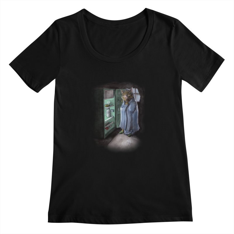 Midnight snack (color edition) Women's Scoopneck by Franky Nieves Shop