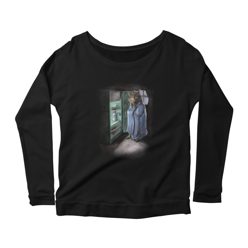 Midnight snack (color edition) Women's Scoop Neck Longsleeve T-Shirt by Franky Nieves Shop