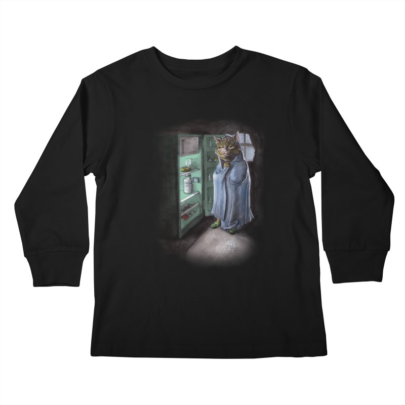 Midnight snack (color edition) Kids Longsleeve T-Shirt by Franky Nieves Shop