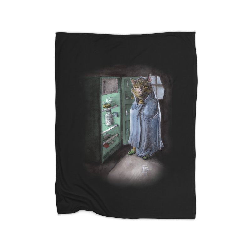 Midnight snack (color edition) Home Fleece Blanket Blanket by Franky Nieves Shop