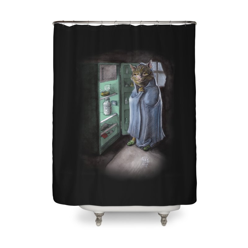 Midnight snack (color edition) Home Shower Curtain by Franky Nieves Shop