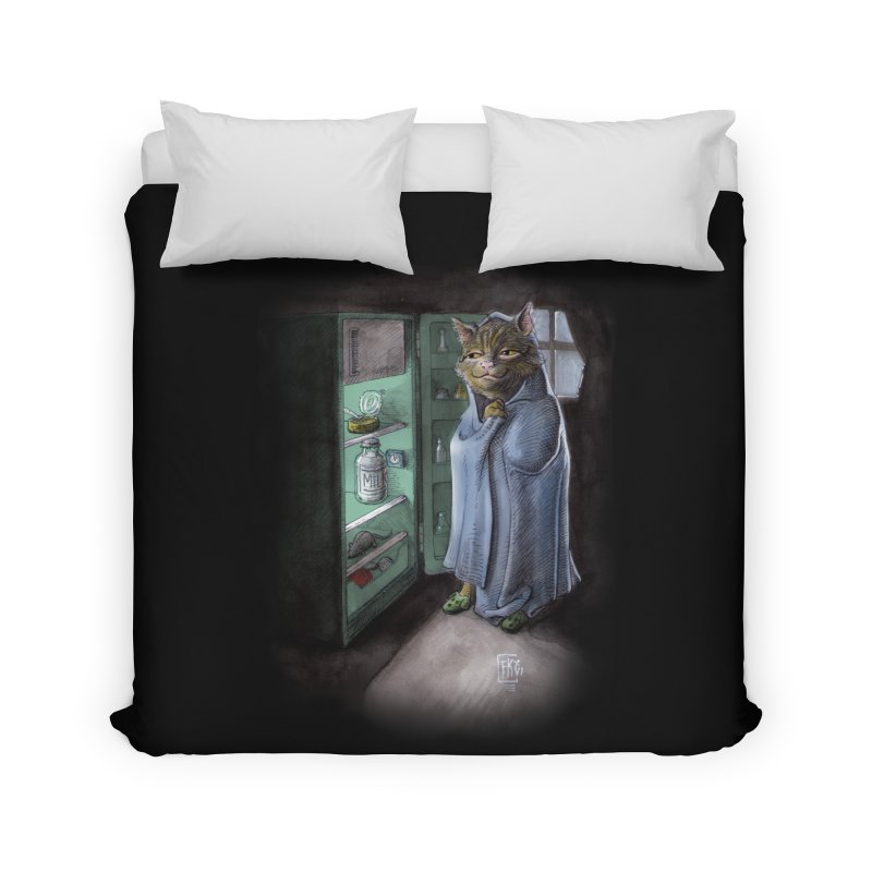 Midnight snack (color edition) Home Duvet by Franky Nieves Shop
