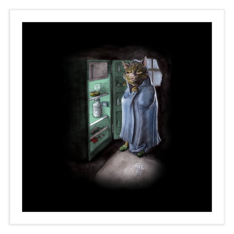 Midnight snack (color edition) Home Fine Art Print by Franky Nieves Shop