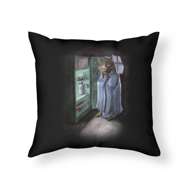 Midnight snack (color edition) Home Throw Pillow by Franky Nieves Shop