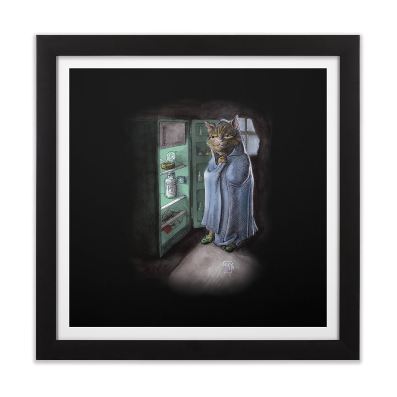 Midnight snack (color edition) Home Framed Fine Art Print by Franky Nieves Shop