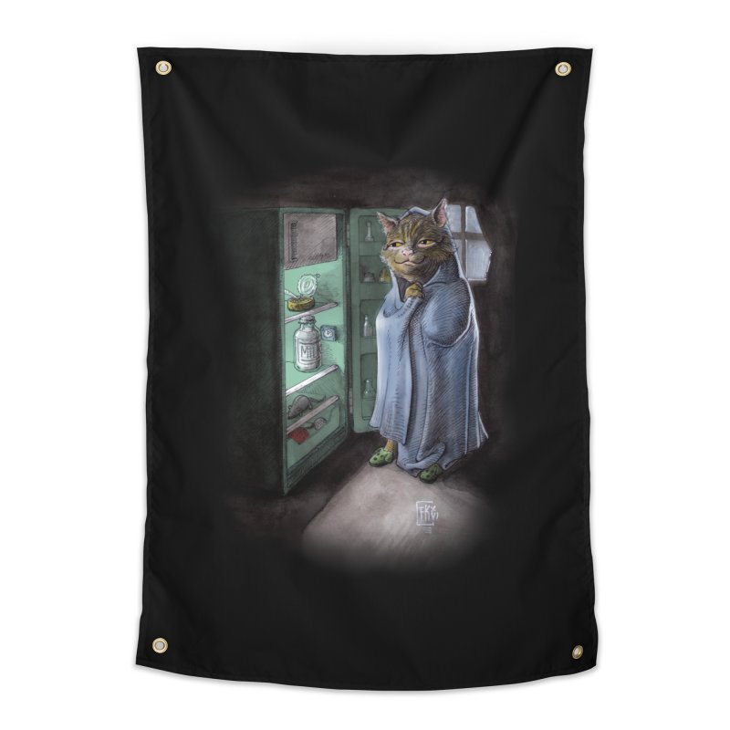 Midnight snack (color edition) Home Tapestry by Franky Nieves Shop