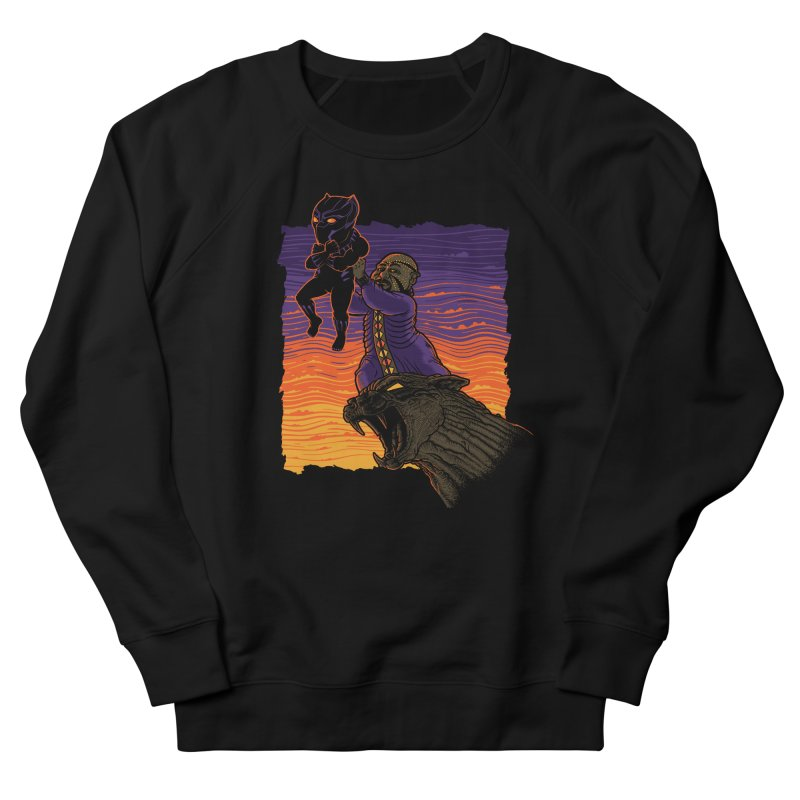 The Panther King Men's French Terry Sweatshirt by Franky Nieves Shop