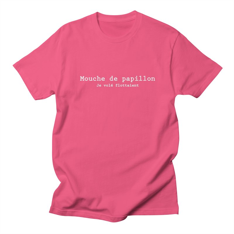 Mouche de Papillon blanc Men's T-shirt by Le Franponais