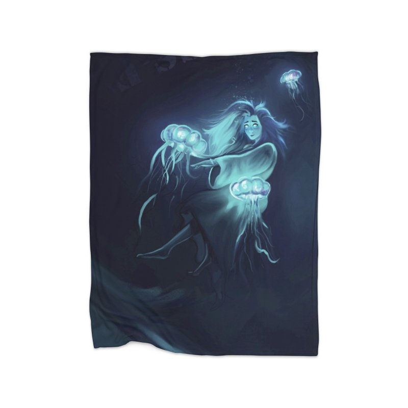 Jellyfish Party Home Blanket by @franzeboy Artist Shop