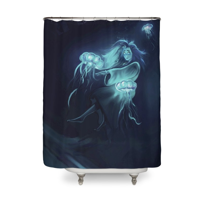 Jellyfish Party Home Shower Curtain by @franzeboy Artist Shop