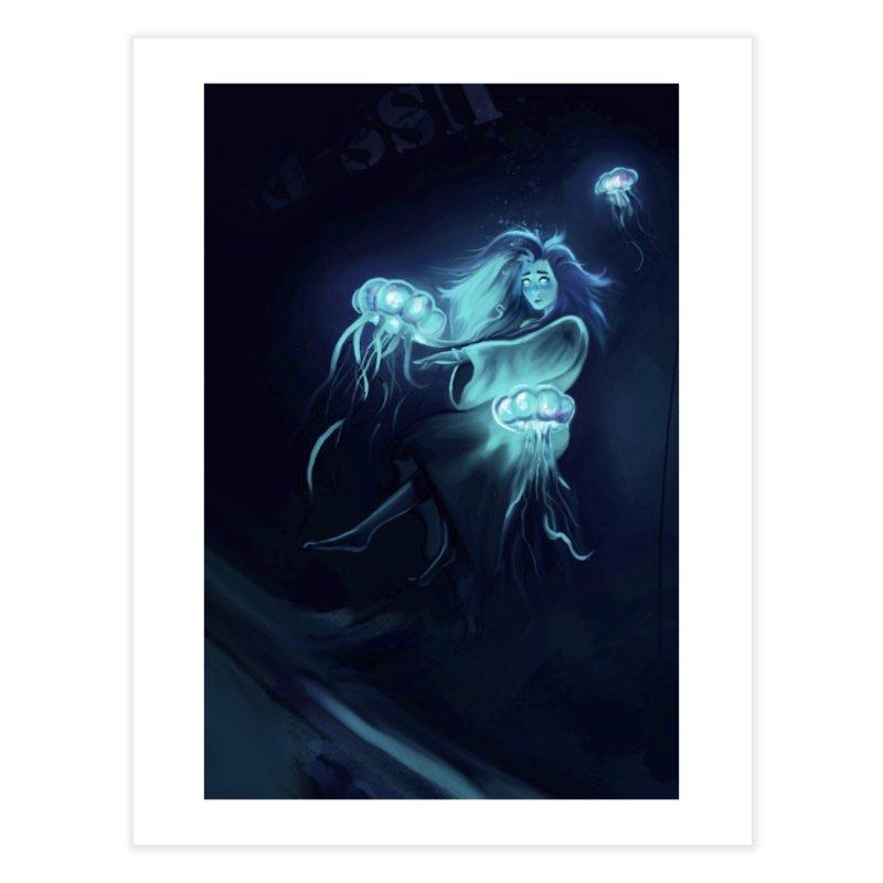 Jellyfish Party Home Fine Art Print by @franzeboy Artist Shop
