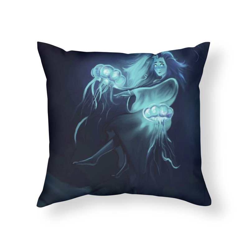 Jellyfish Party Home Throw Pillow by @franzeboy Artist Shop