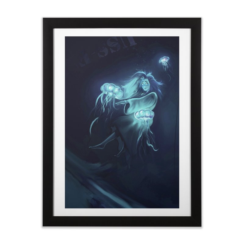 Jellyfish Party Home Framed Fine Art Print by @franzeboy Artist Shop