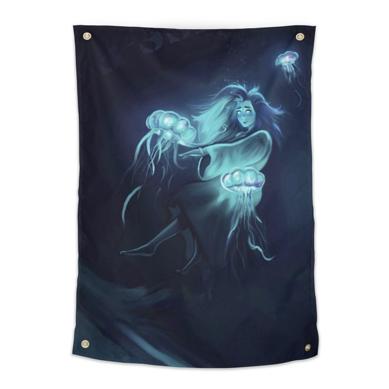 Jellyfish Party Home Tapestry by @franzeboy Artist Shop