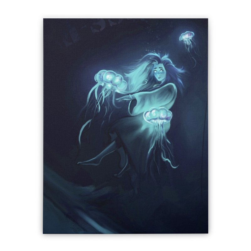 Jellyfish Party Home Stretched Canvas by @franzeboy Artist Shop