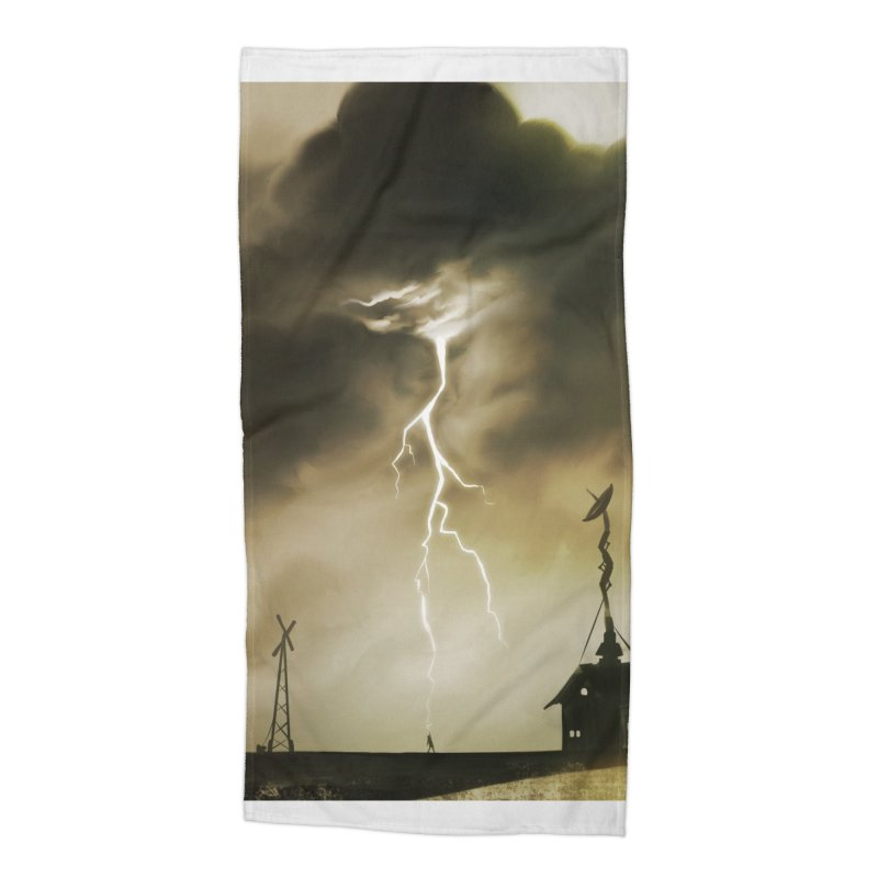Lightning Weapon Accessories Beach Towel by @franzeboy Artist Shop
