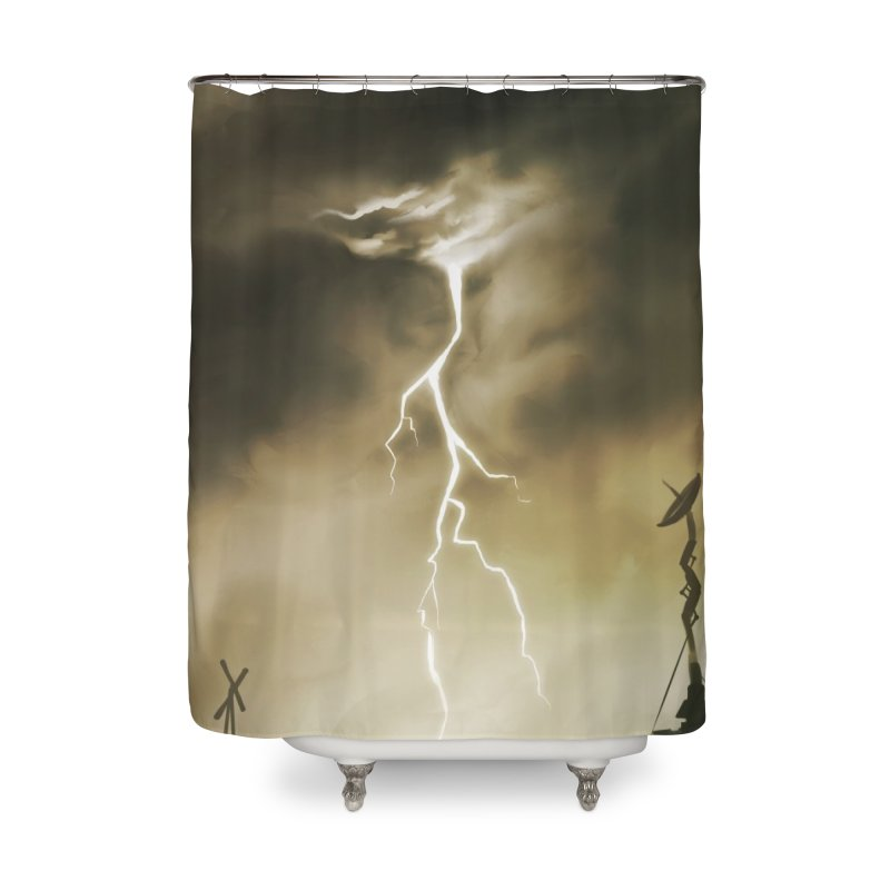 Lightning Weapon Home Shower Curtain by @franzeboy Artist Shop