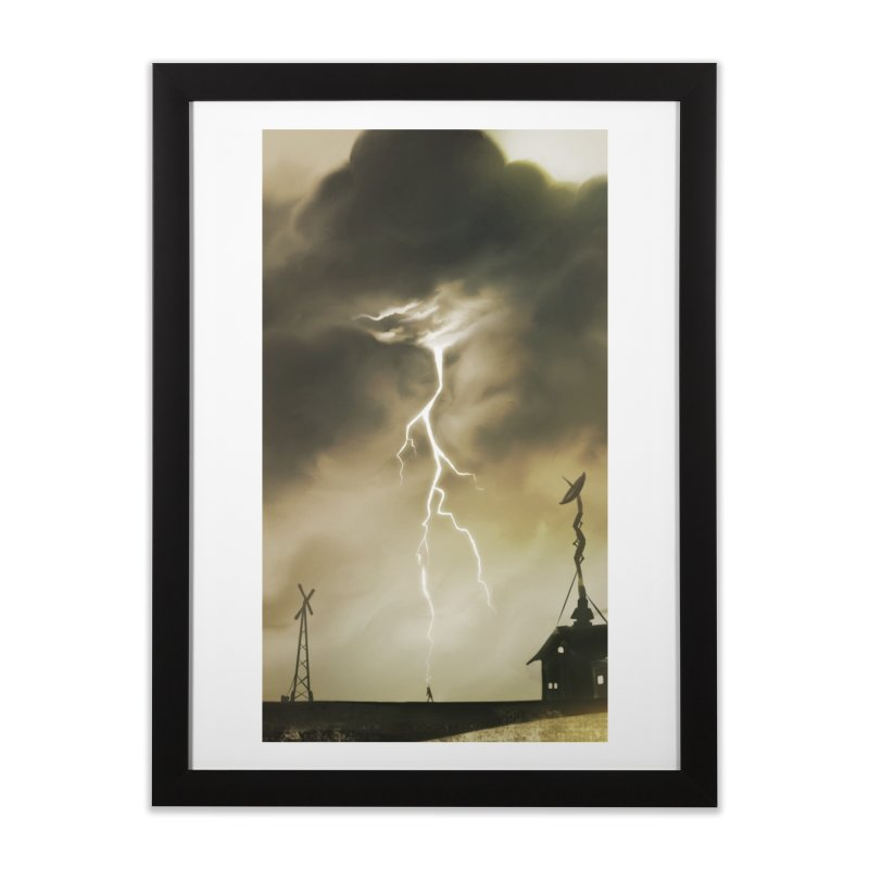 Lightning Weapon Home Framed Fine Art Print by @franzeboy Artist Shop