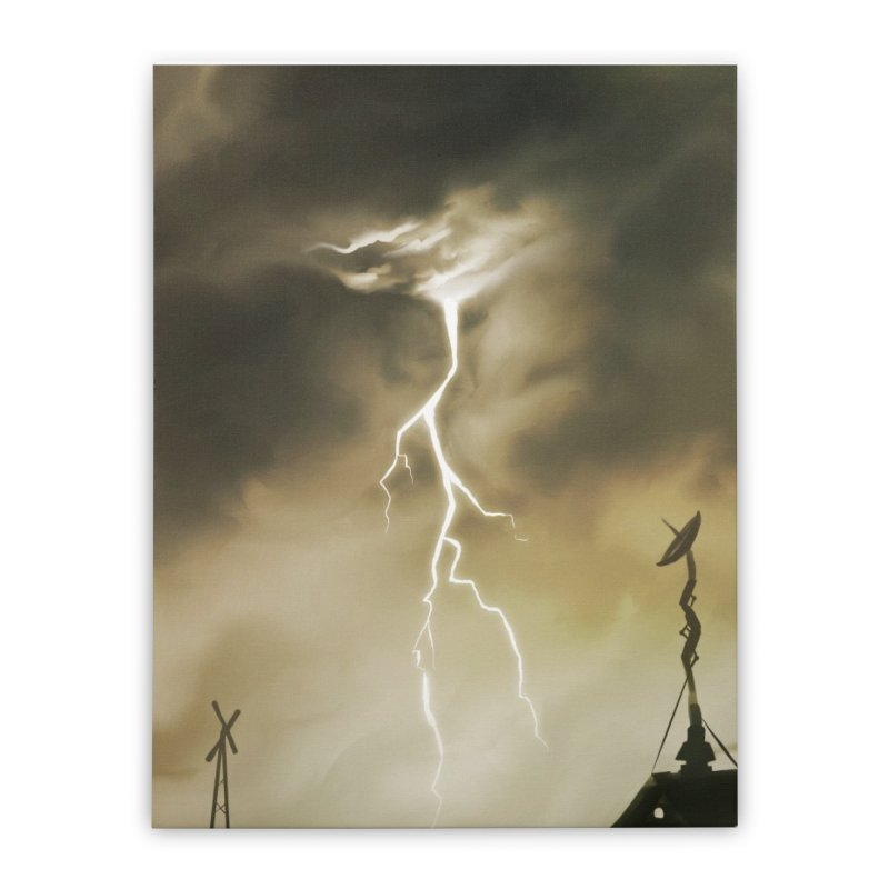 Lightning Weapon Home Stretched Canvas by @franzeboy Artist Shop