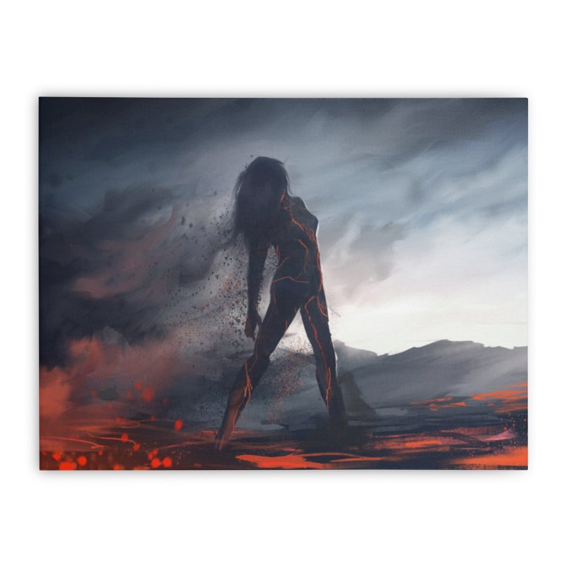 Rise from the Ashes Home Stretched Canvas by @franzeboy Artist Shop