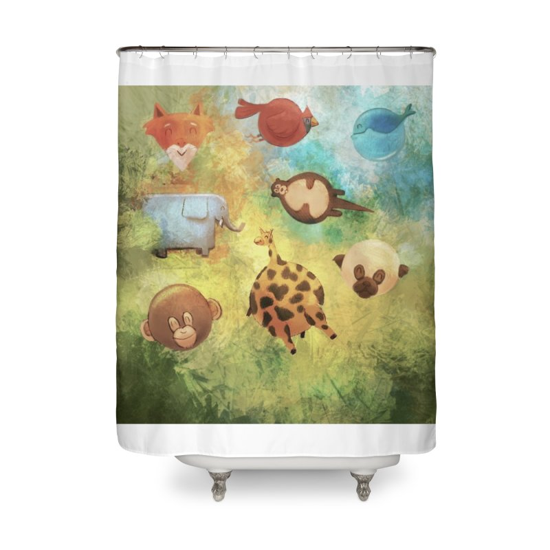 Balloon Animals Home Shower Curtain by @franzeboy Artist Shop